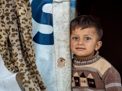 Syrian refugee child in Lebanon