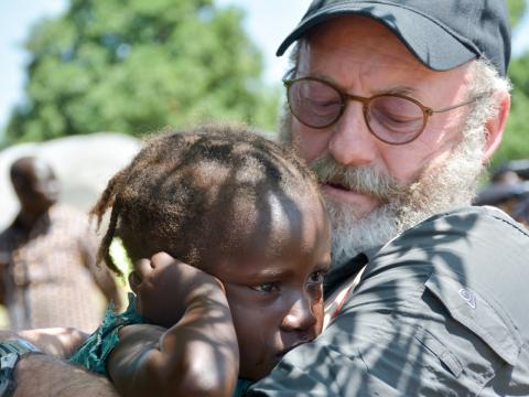 Liam Cunningham supports the It takes a world to end violence against children campaign