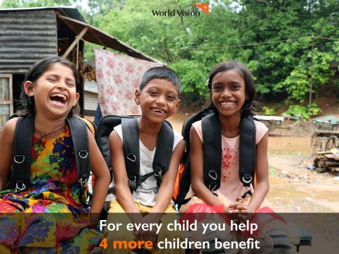 For every child you help, others benefit too