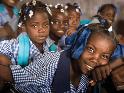 Haiti Earthquake Response school girls