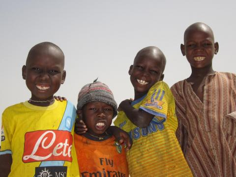 A group of boys in Chad