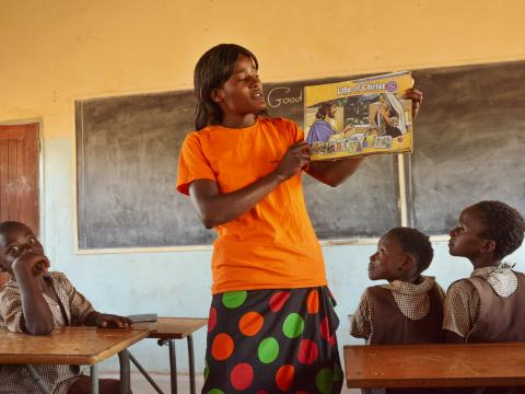 martha muntimbili-volunteer- teaches kids during a good news club session.jpg