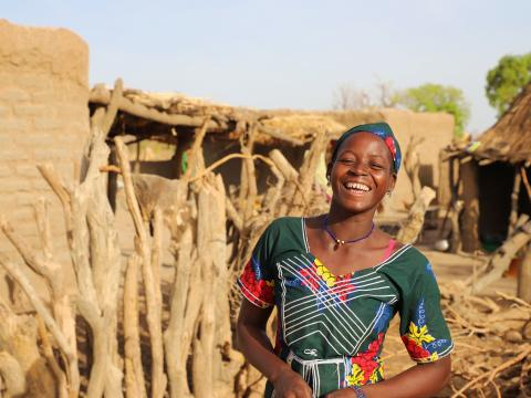 Doussou can smile knowing she has safe access to water!