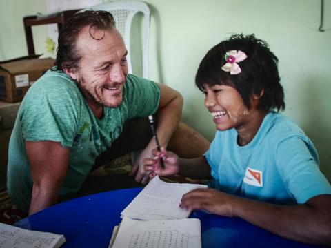 Jerome Flynn raises awareness work to end violence against children
