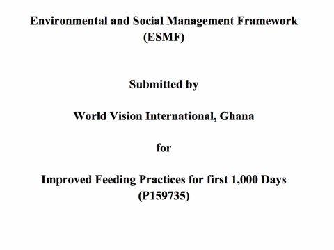 Environment and Social Framework Cover Image