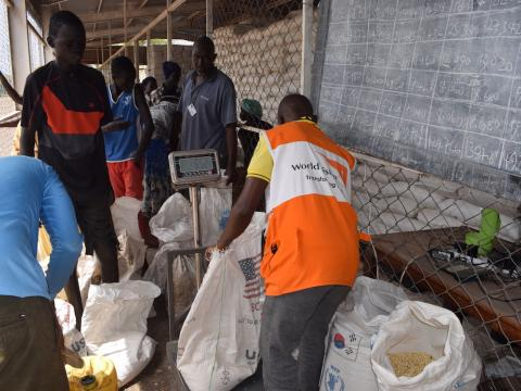 World Vision Kenya distributes food at Kakuma Refugee Camp