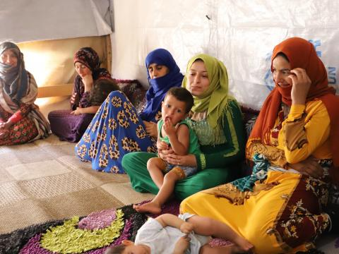 Syrian Refugees attending World Vision parenting sessions