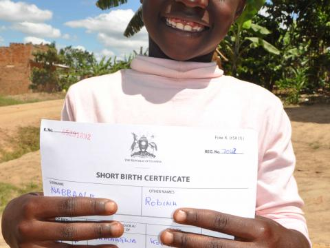 Birth registration is essential for every child because it is the first line of defense