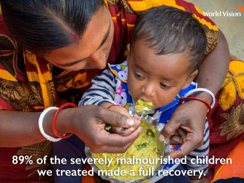Treating malnourished children to full recovery in 2018