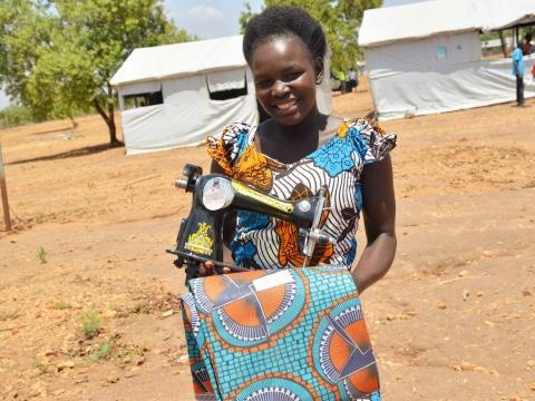 The hands on skilling program restored Mercy's hope who had dropped out of school due to early pregnancy