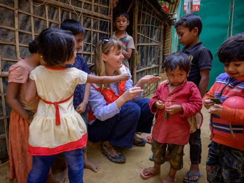 """Refugee children and their families are front and centre of everything we do. Let's never forget this,"" says Rachel Wolff, Response Director of World Vision's humanitarian operations in Cox's Bazar, Bangladesh."