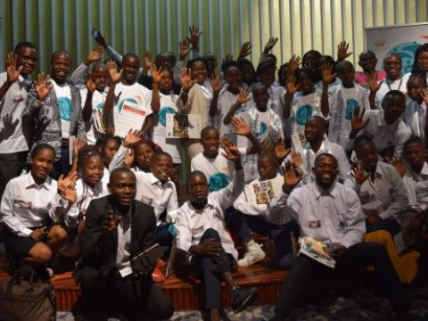During the campaign launch to end violence against children in DRC.