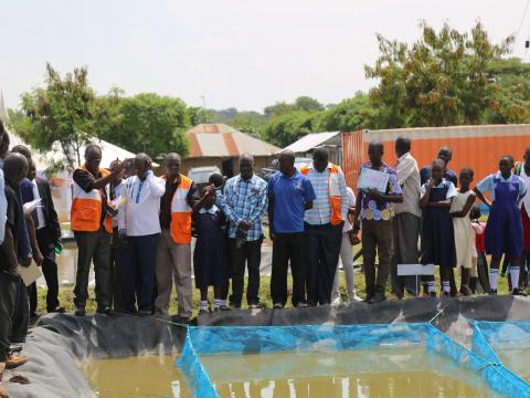 The new fish hatchery at Pala in Homa Bay County will provide quality fingerlings to enhance fish production in the Homa Bay County. ©World Vision/Photo by Zipporah Karani.