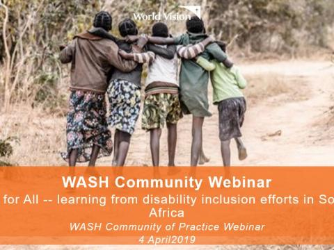 WASH Community Webinar Disability Inclusion in Southern Africa
