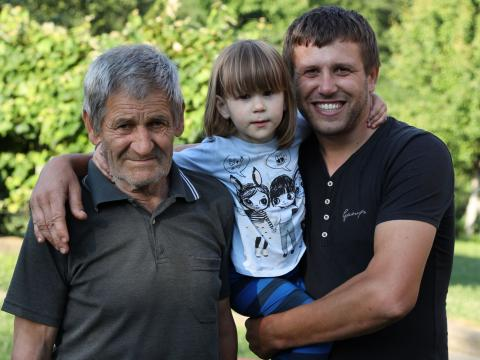 Nadja with her father and gret-grandfather