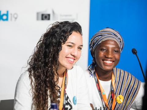 At the European Development Days, Samila presented research she and a group of nine young people had conducted in Brazil, looking at issues of violence against children.