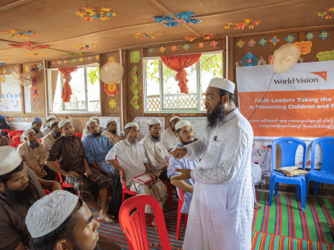 Rohingya refugee faith leader engagement
