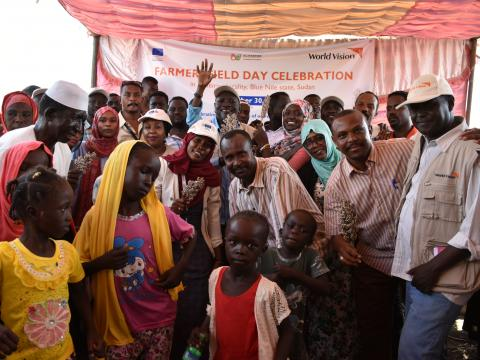 Celebrations of sorghum farmers harvests in Blue Nile state, Sudan.