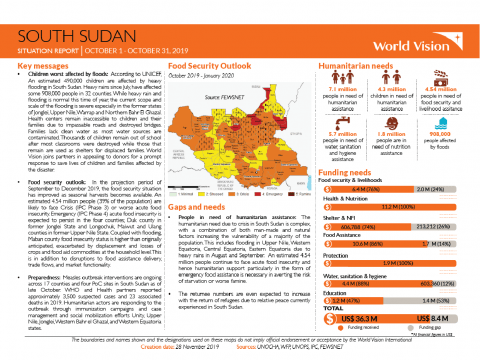 South Sudan - October 2019 Situation Report