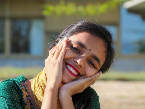 Dola from Bangladesh smiling
