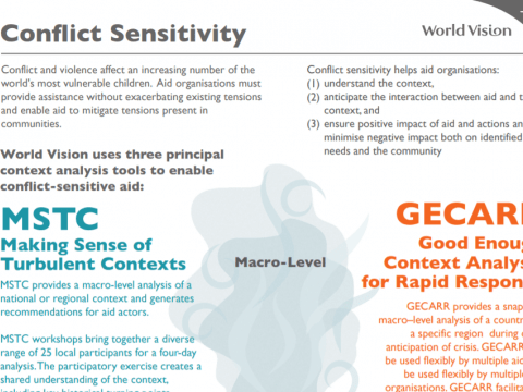 conflict sensitivity tools