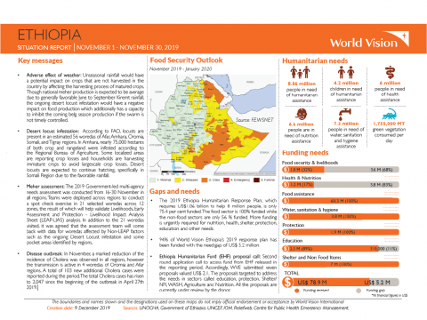 Ethiopia - November 2019 Situation Report