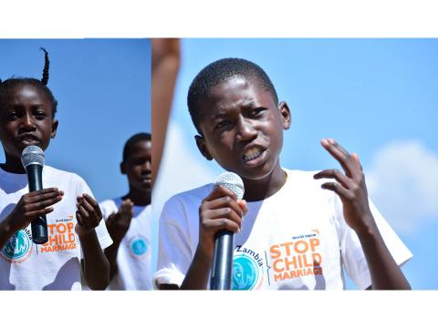 Children in Zambia speak out about the dangers of child marriage