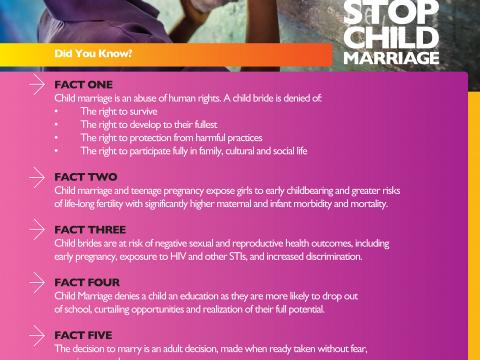 Facts about Child Marriage in Zambia