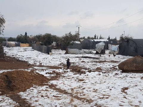 Young displaced Syrian children are freezing to death in Idlib