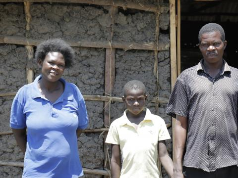 John and his family. @World Vision Photo/Susan Otieno