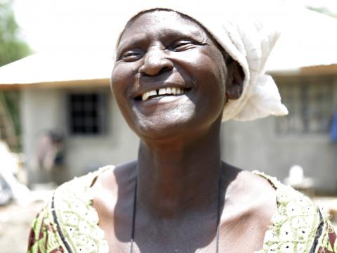 Margaret happy.©World Vision Photo