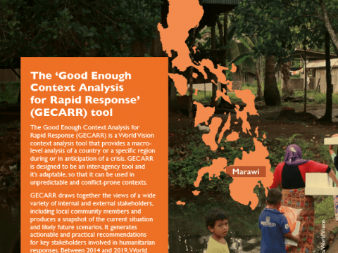 Use of GECARR in conflict contexts Case Study: Marawi, Philippines
