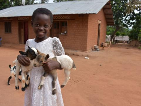 Donnel's photo with the goats
