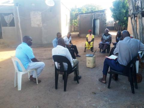 Faith leaders during the session