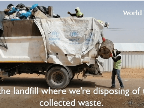 Coronavirus, COVID-19 Response, providing sanitation in Jordan