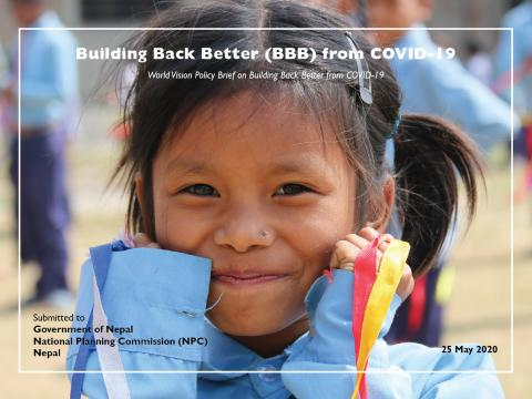 World Vision Policy Brief on Building Back Better cover