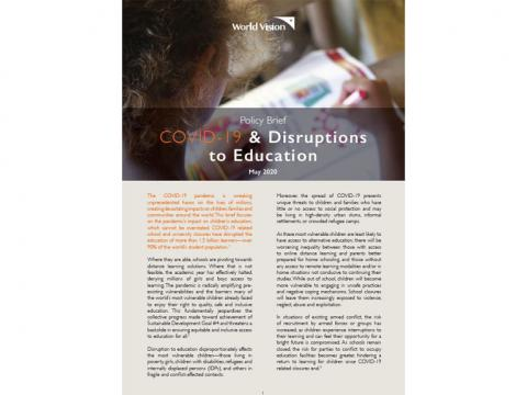 COVID-19 and Disruptions to Education
