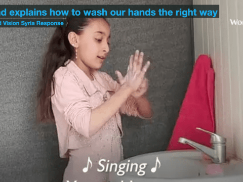 Raghad explains how to wash our hands the right way