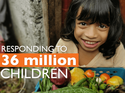 World Vision is responding to 36 million children