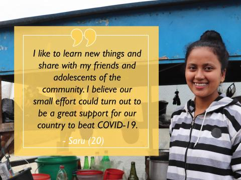 Saru, former sponsored child, now Hidden Hero for her community