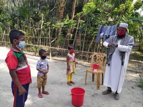 Channels of Hope, Iman teaches kids how to wash hands in bangladesh to protect themselves from COVID-19