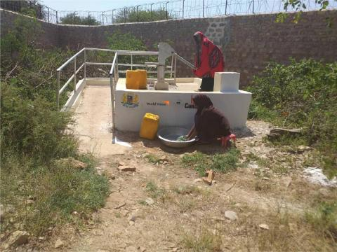 A shallow well in Baidoa