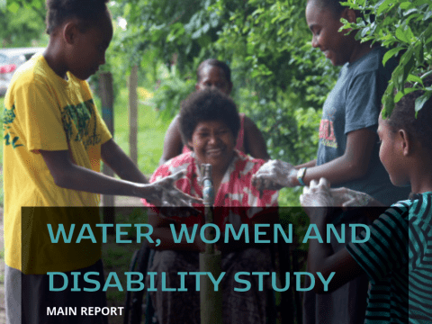 Water, women and disability study - report cover