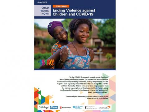 Ending violence against children and COVID-19 Cover