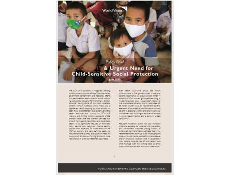 COVID-19 & Urgent Need for Child-Sensitive Social Protection
