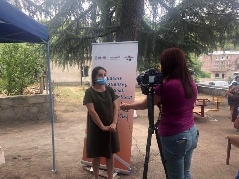Delivering equipment to strengthen the field of social work in Armenia