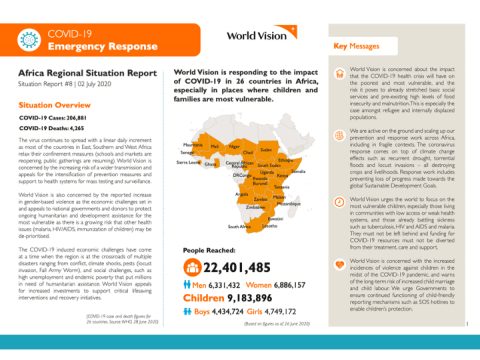 COVID-19 Africa Emergency Response Situation Report #8