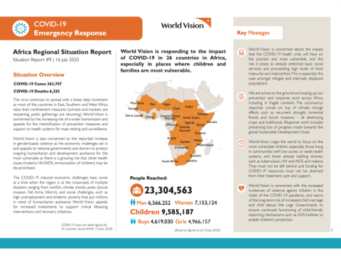 World Vision COVID-19 Africa SitRep #9