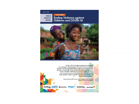 CHILD RIGHTS NOW! Ending Violence against Children and COVID-19 cover