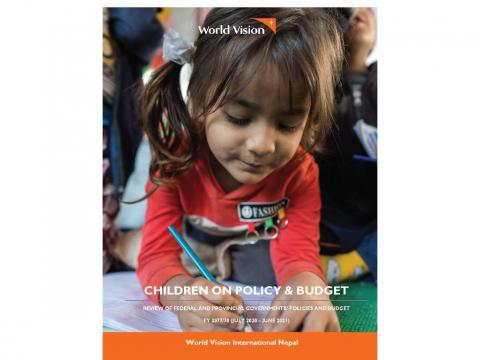 Children on policy and budget cover